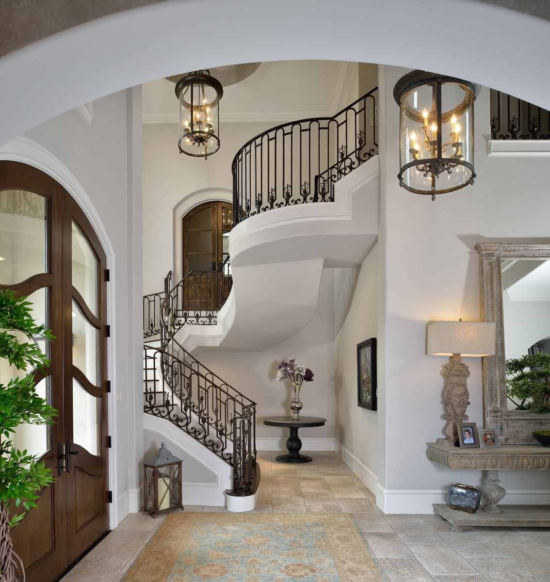 Custom Home Game Rooms Media Design By Jeff Paul Custom: Custom Home Foyers Design By Jeff Paul Custom Homes