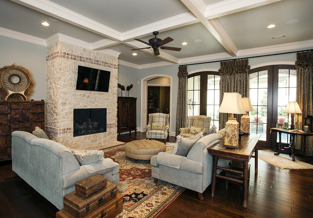 Custom home great rooms design by jeff paul custom homes for Great room designs
